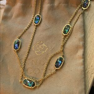 Kendra Scott Kellie necklace with abalone